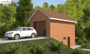 Проект гаража 048-14
